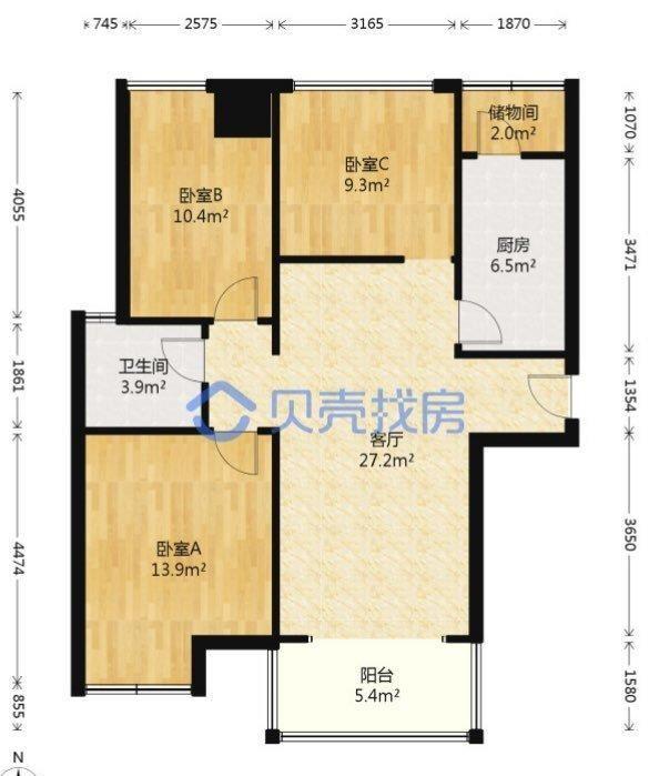 盛世长安3室2厅1卫